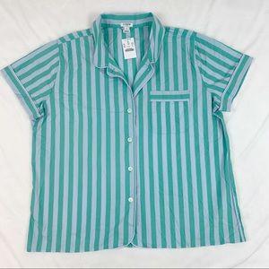 J Crew Short Sleeve striped pajama sleep shirt